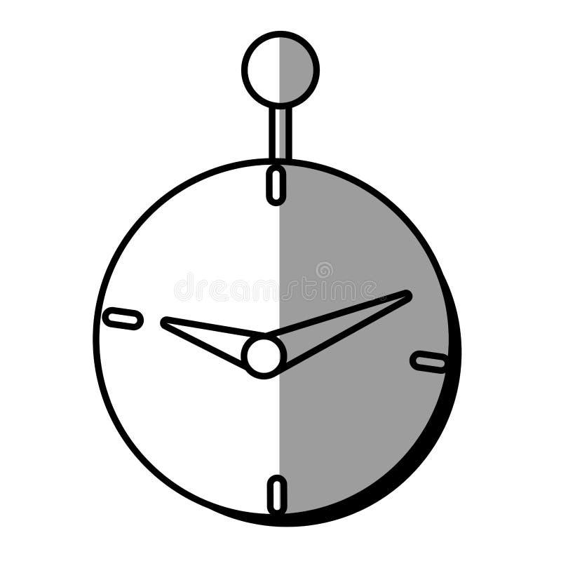sombra del diseño del dinero del negocio del tiempo de reloj stock de ilustración