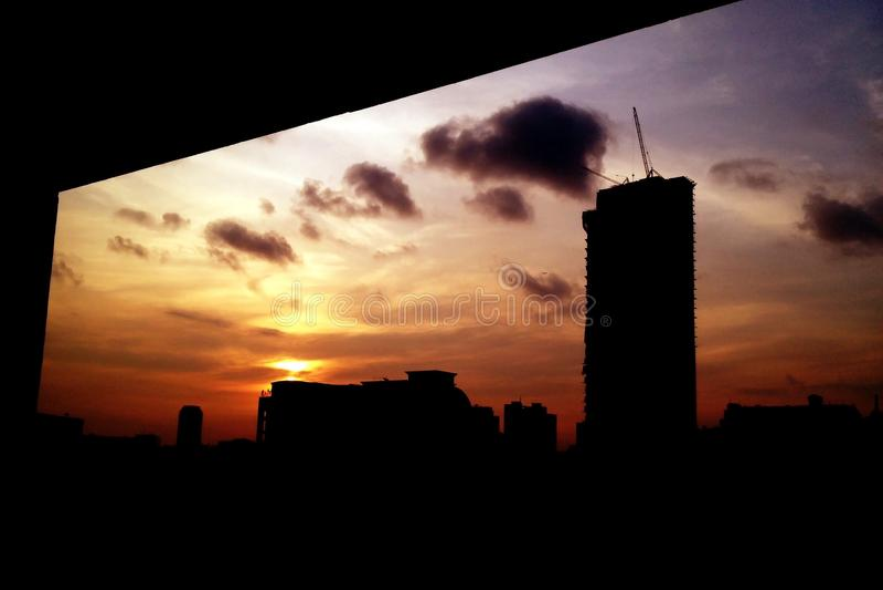 Sombra del edificio imagen de archivo libre de regalías