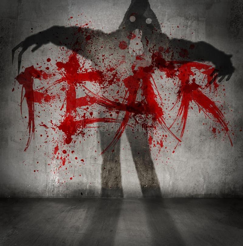 Sombra del miedo foto de archivo
