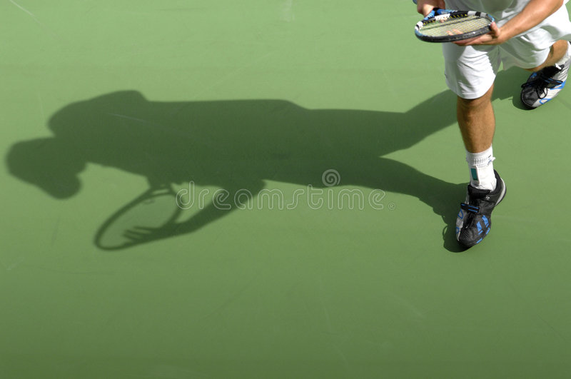 Sombra del tenis imagenes de archivo