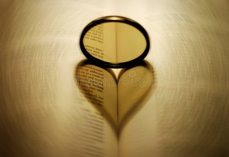 Sombra do coração fotografia de stock