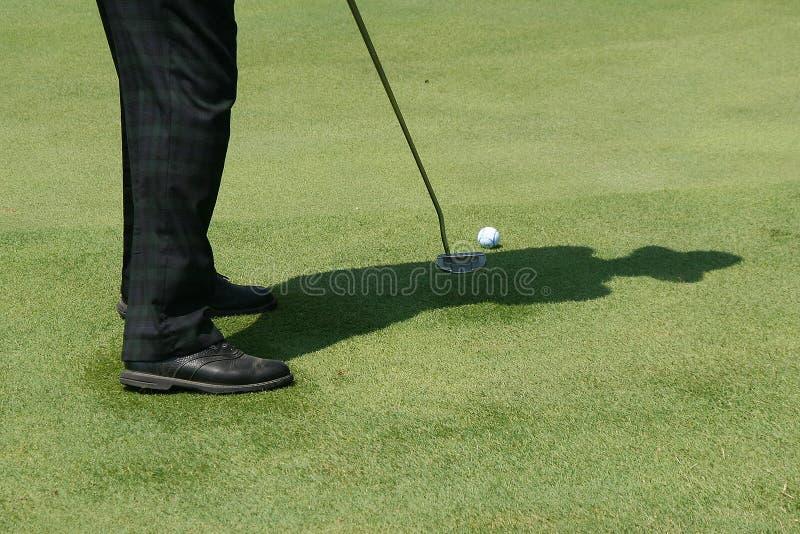 Sombra do golfe foto de stock