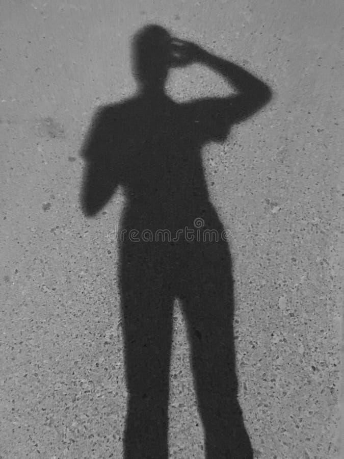 Sombra do homem foto de stock royalty free