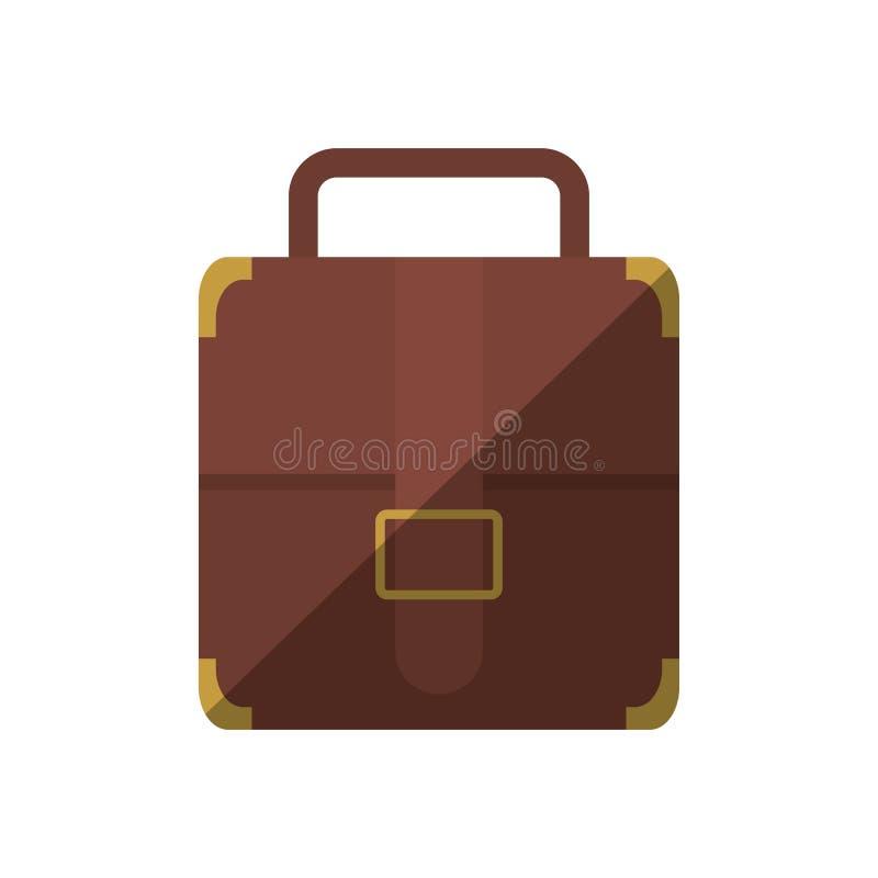 sombra do negócio do curso da correia da mala de viagem do portfólio ilustração royalty free