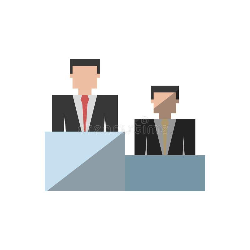 sombra do pódio do sucesso dos homens de negócio ilustração royalty free