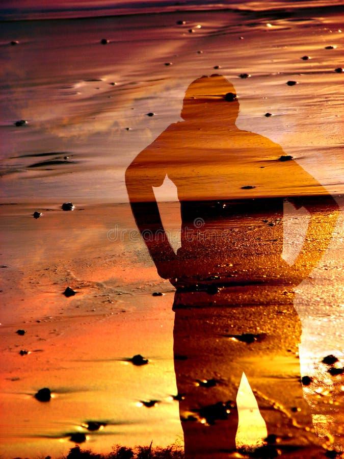 Sombra do por do sol imagem de stock royalty free
