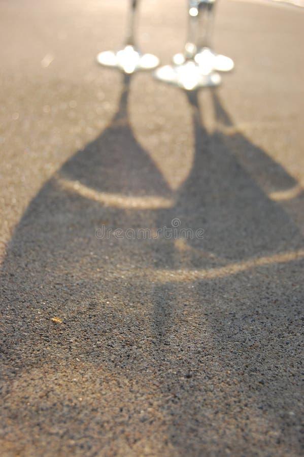 Sombra do vidro de vinho imagem de stock