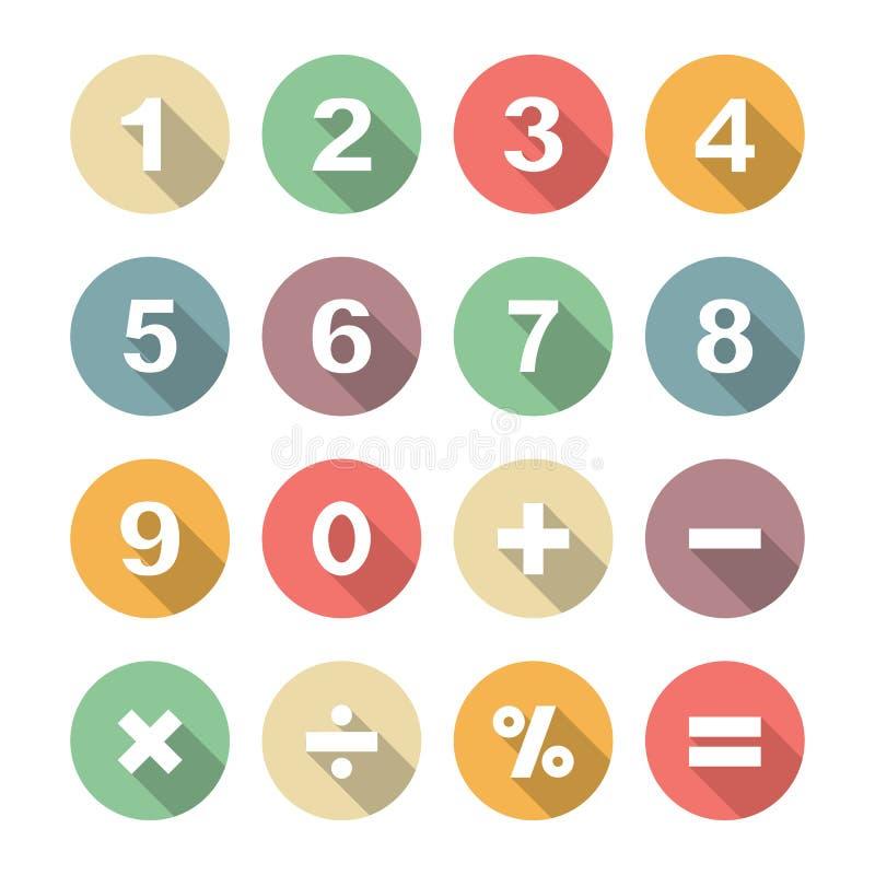 Sombra larga del número plana libre illustration