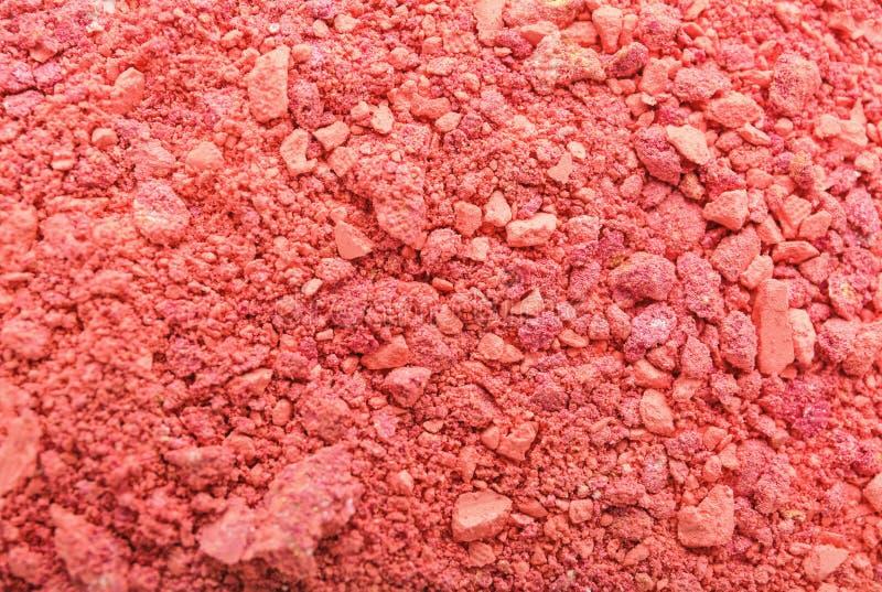Sombra para os olhos cor-de-rosa esmagada, close up fotografia de stock