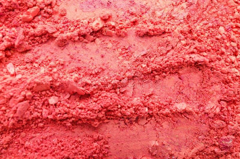 Sombra para os olhos cor-de-rosa esmagada, close up fotografia de stock royalty free