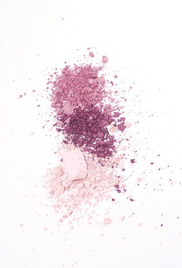 Sombra para os olhos roxa e cor-de-rosa foto de stock
