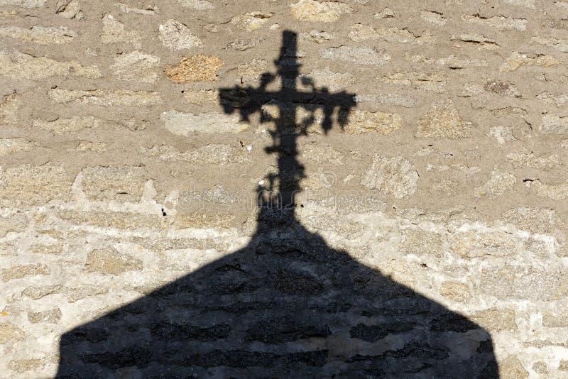 Sombra transversal religiosa foto de stock