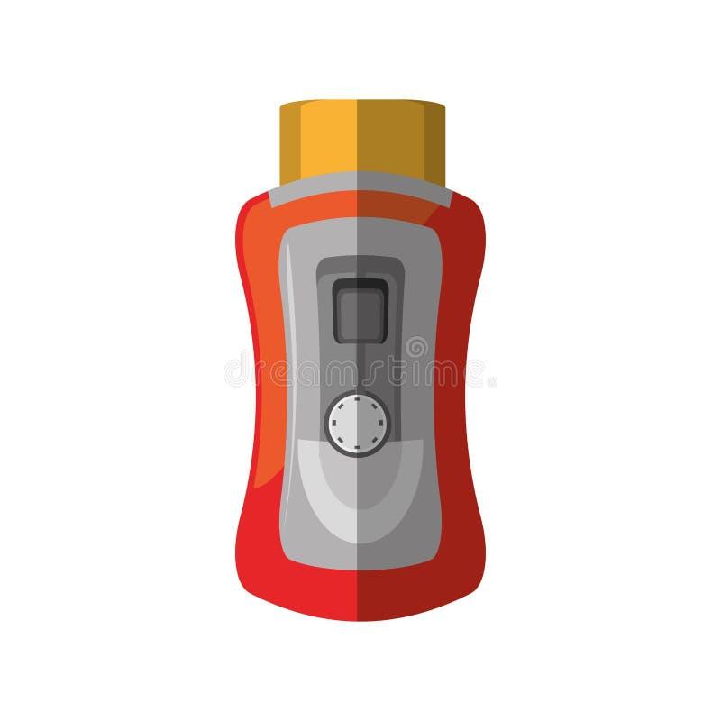 sombra vermelha do dispositivo do pão do torradeira ilustração stock
