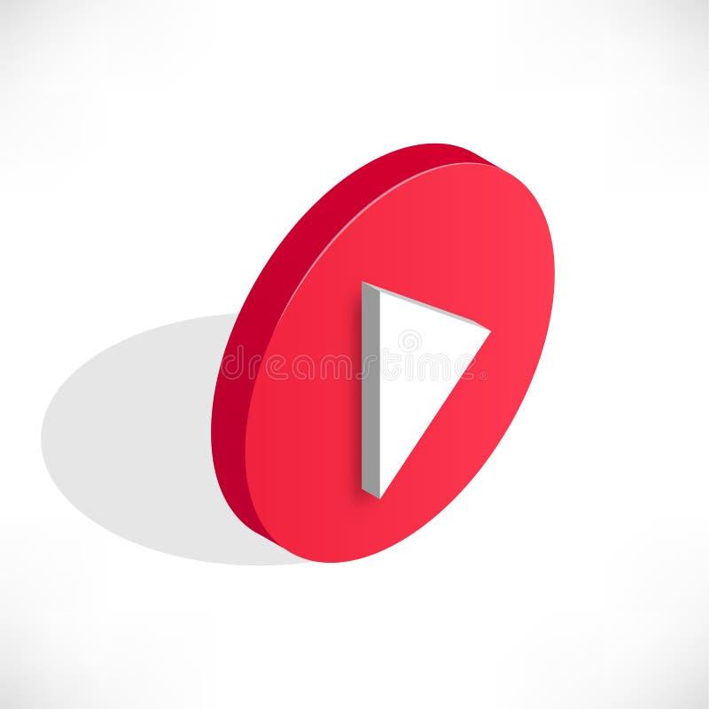 Sombra video del icono del juego isométrico stock de ilustración