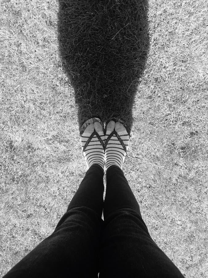 Sombra y sombra en blanco y negro fotos de archivo