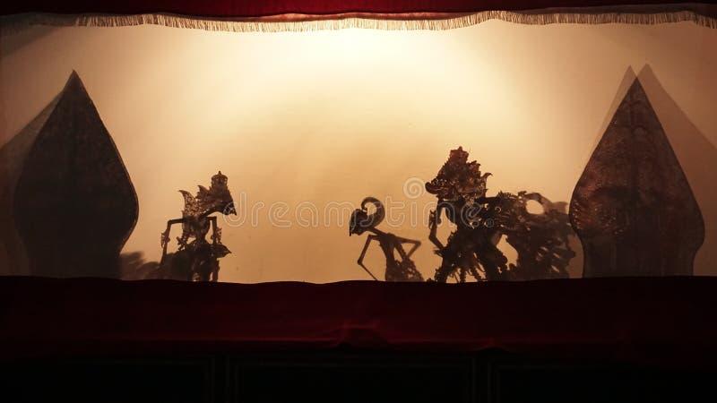 Sombra yogyakarta de Pupet fotos de stock royalty free