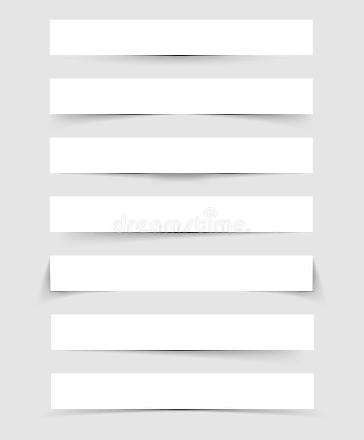 Sombras ajustadas ilustração do vetor