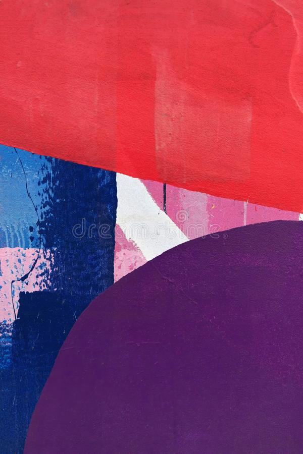 Sombras coloridas de púrpuras, de azules y de rojos foto de archivo