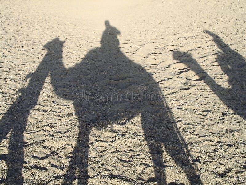 Sombras da caravana fotografia de stock royalty free