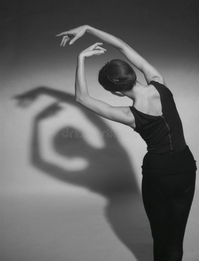 Sombras da dança fotos de stock