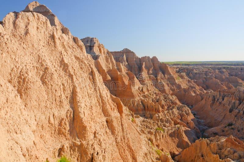 Sombras da manhã em uma garganta do deserto foto de stock royalty free