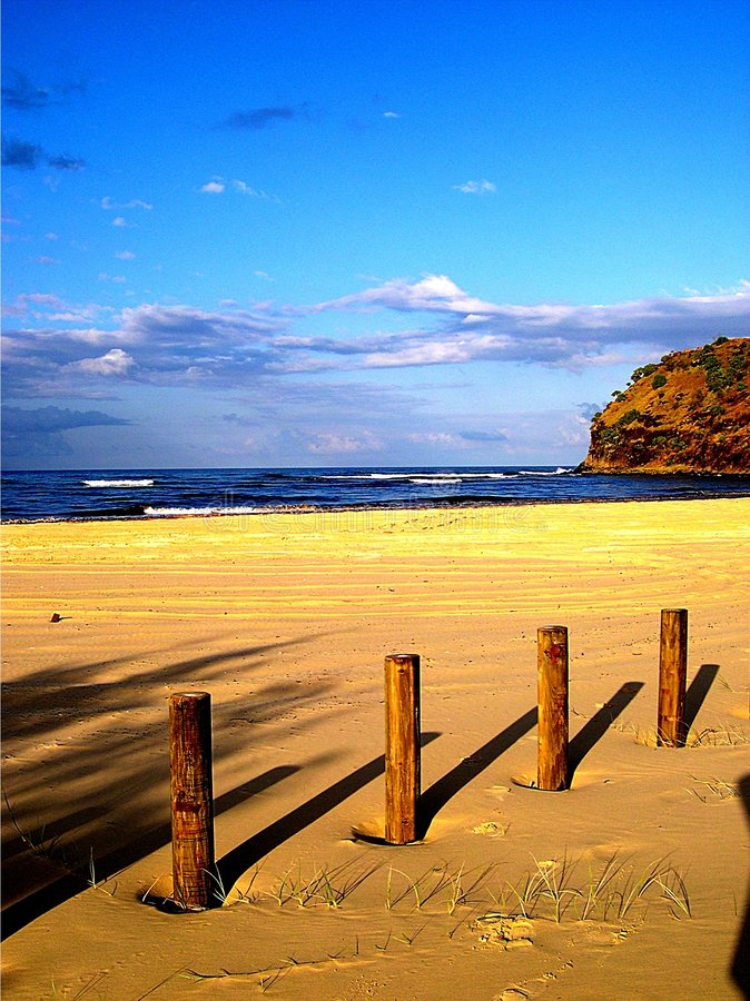 Sombras da praia imagem de stock
