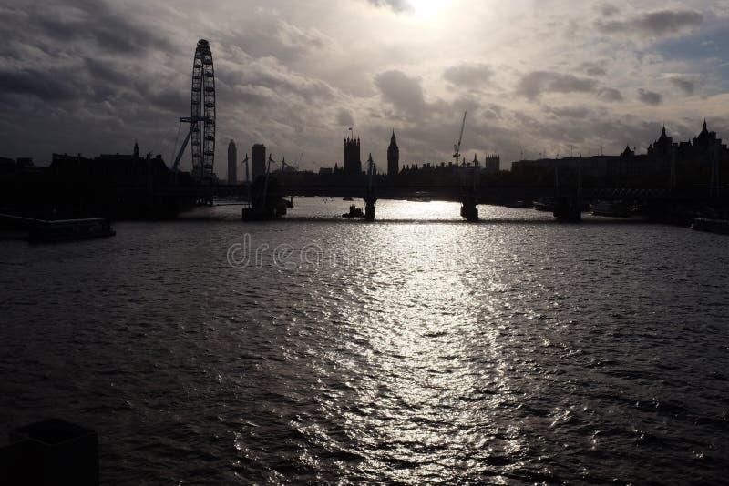 Sombras da skyline de Londres fotos de stock royalty free