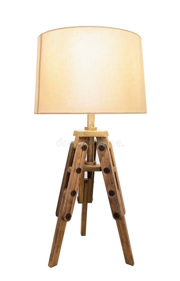 Sombras de lámpara decorativas del vintage Fuera de la madera imágenes de archivo libres de regalías