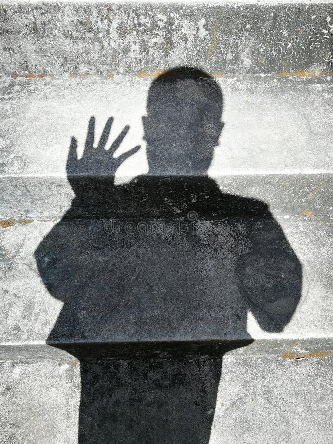 Sombras de la gente imagenes de archivo