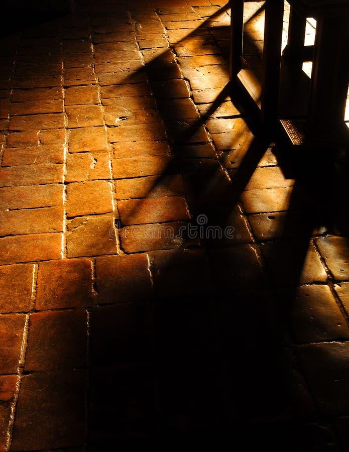 Sombras de la iglesia foto de archivo