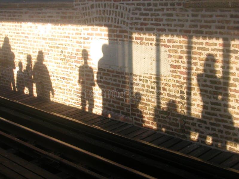 Sombras de la plataforma fotografía de archivo