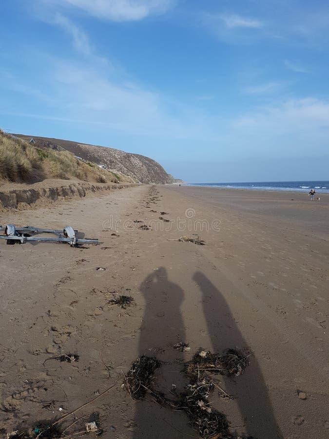Sombras de la playa imagen de archivo