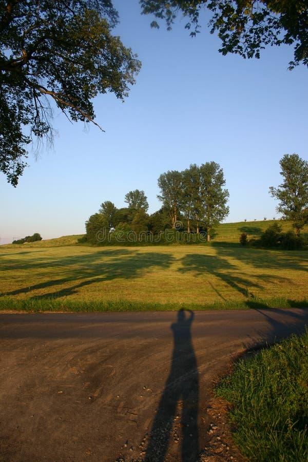 Sombras de la tarde imagenes de archivo