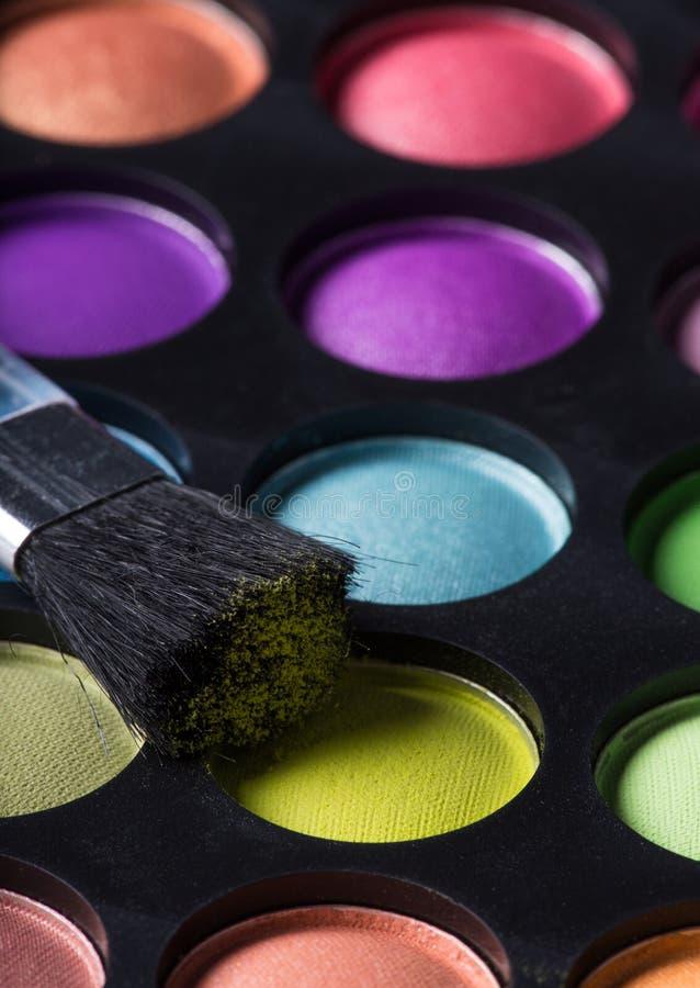 Sombras de ojo multicoloras fotografía de archivo
