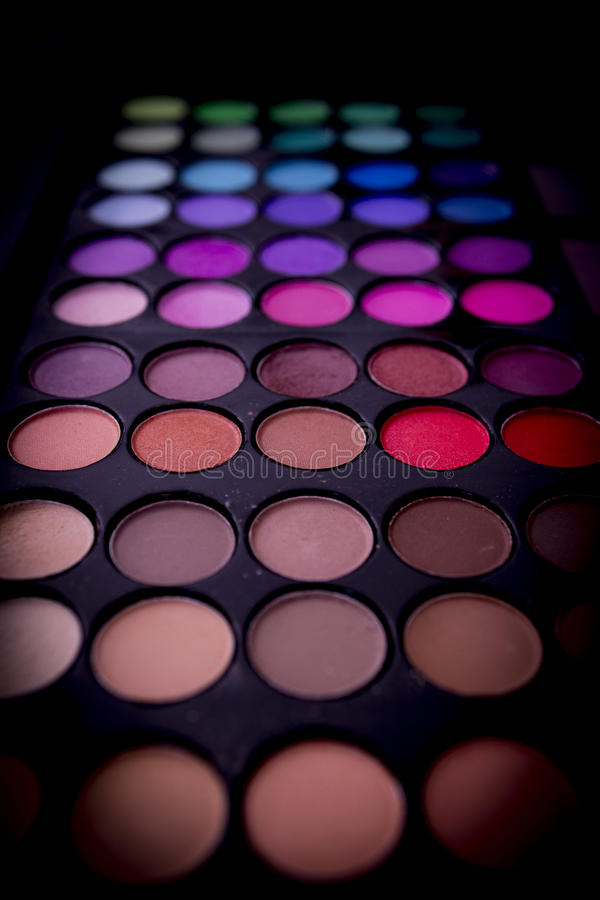 Sombras de ojo multicoloras imagenes de archivo