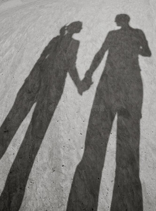 Sombras del amor foto de archivo libre de regalías