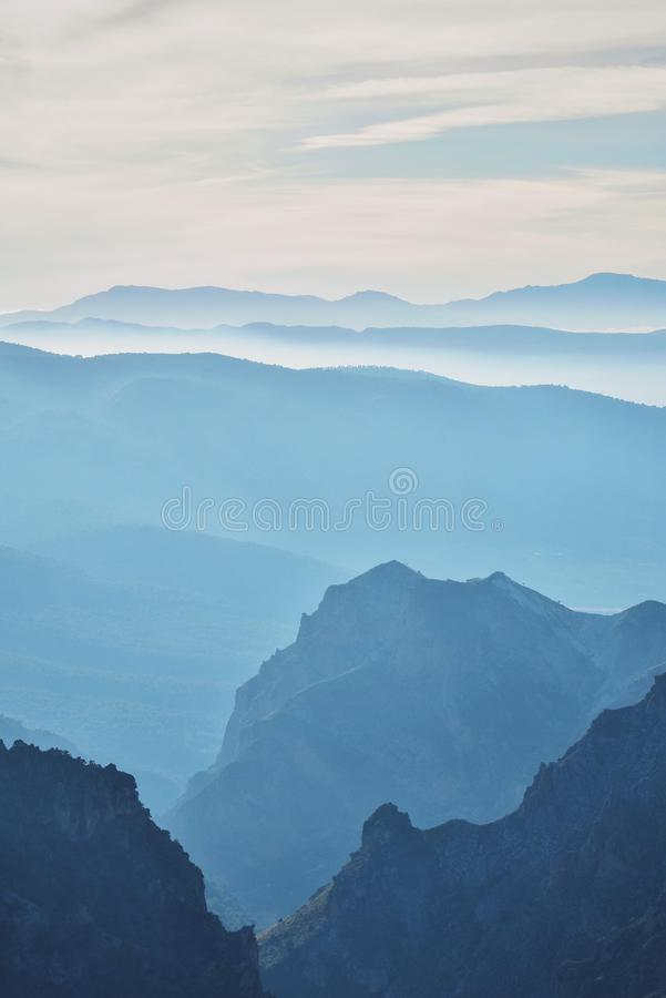 Sombras del azul imagen de archivo libre de regalías