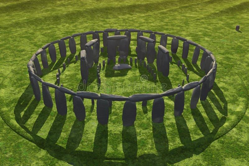 Sombras del bastidor de Stonehenge stock de ilustración