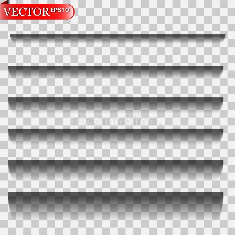 Sombras del vector aisladas ilustración del vector