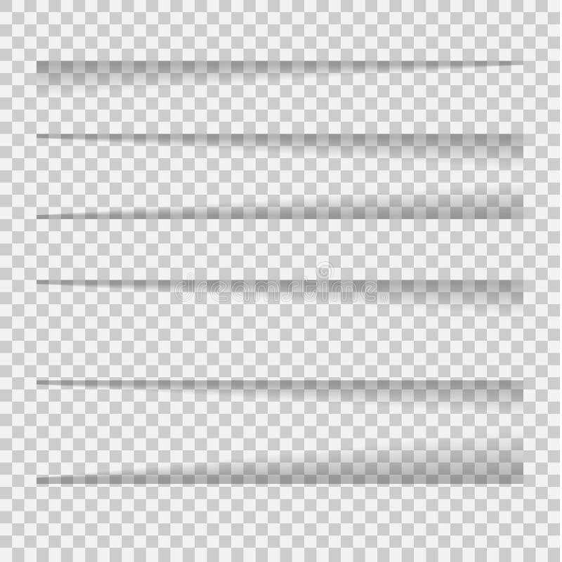 Sombras del vector aisladas stock de ilustración