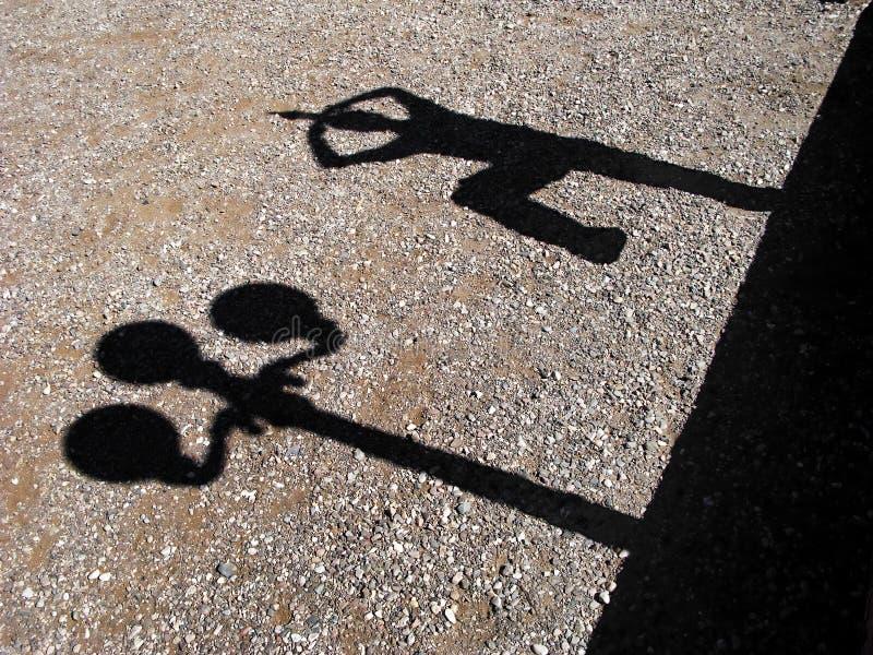 Sombras divertidas imagen de archivo libre de regalías