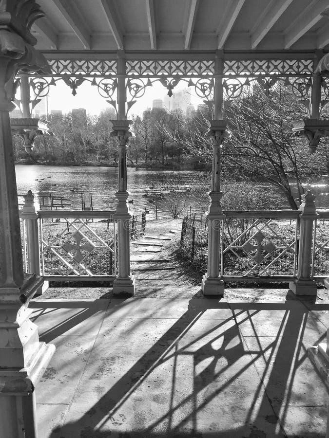 Sombras em Central Park imagem de stock royalty free