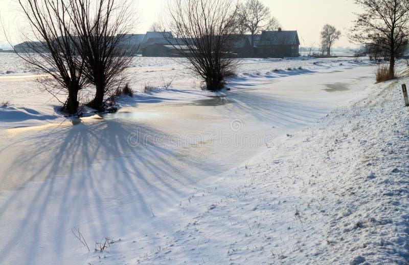 Sombras en el hielo imagen de archivo libre de regalías