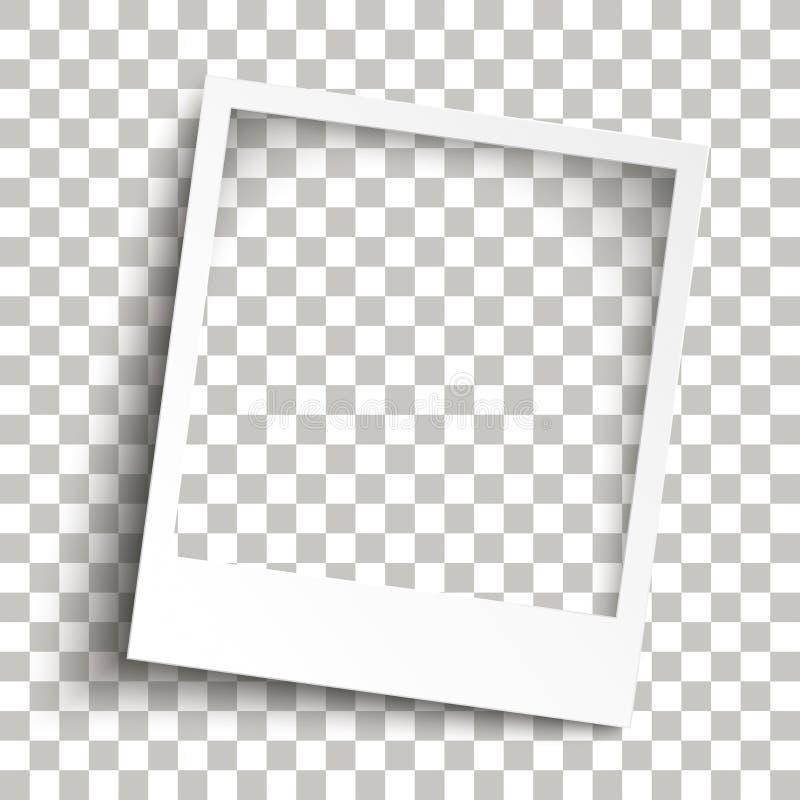 Sombras transparentes do quadro imediato chanfrado da foto ilustração royalty free