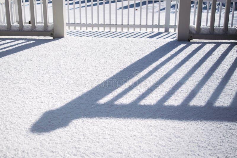 Sombras y nieve fotos de archivo libres de regalías