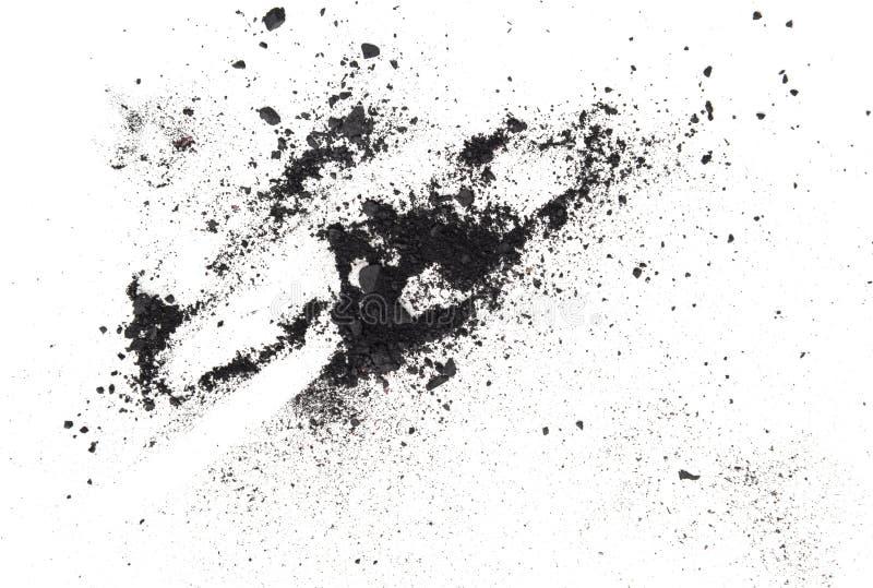 Sombreador de ojos gris oscuro aislado en el fondo blanco imagen de archivo libre de regalías