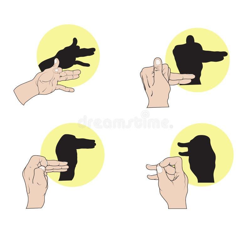 Sombree las marionetas ilustración del vector