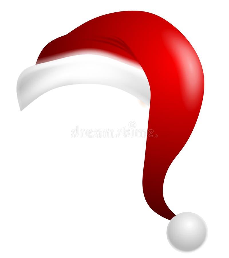 Sombrero aislado de Papá Noel de la historieta stock de ilustración