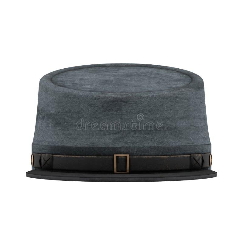 Sombrero americano de la caballería del confederado de la guerra civil stock de ilustración