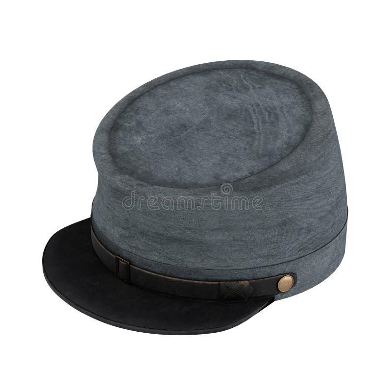 Sombrero americano de la caballería del confederado de la guerra civil libre illustration